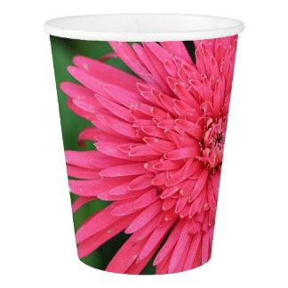 Herrliche rosa/korallenrote Blumen-Papierschale Pappbecher