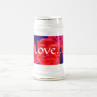 Herrliche rote Rote Rose III Tee Tassen