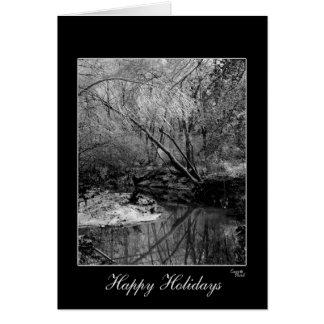 Herrliche schwarze u. weiße Feiertags-Gruß-Karte Karte