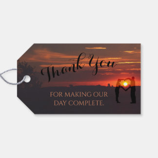 Herrliche Sonnenuntergang-Gastgeschenk Geschenkanhänger