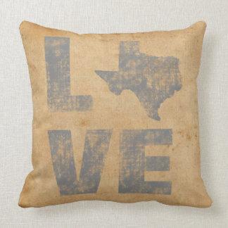 Herrliche Texas-Karten-rustikale patriotische Zierkissen