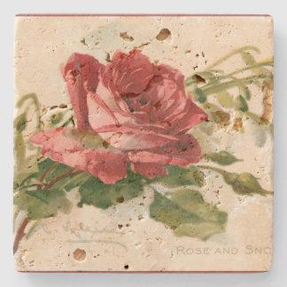 Herrliche viktorianische Rote Rose Steinuntersetzer