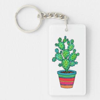 Herrlicher Aquarell-Kaktus im schönen Topf Schlüsselanhänger