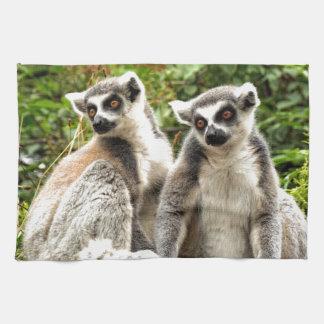 Herrlicher Ring angebundene Lemurs Handtuch