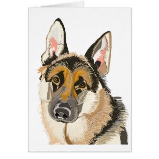 Herrlicher Schäferhund, Alsation Hundezeichnen Karte