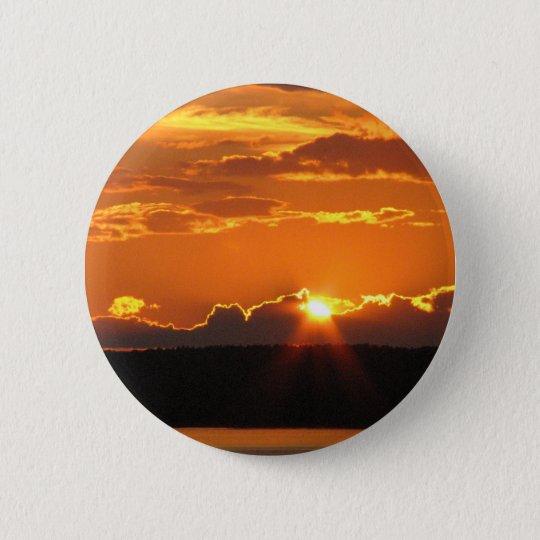 Herrlicher Sonnenuntergang Runder Button 5,1 Cm