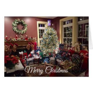 Herrlicher Weihnachtsbaum und Dekorations-Karte Karte