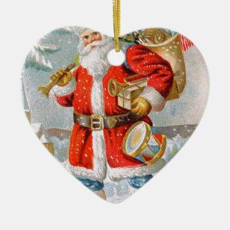 Herrliches amerikanisches patriotisches keramik Herz-Ornament