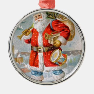 Herrliches amerikanisches patriotisches rundes silberfarbenes ornament