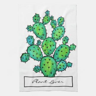 Herrliches Aquarell-stacheliger Kaktus Geschirrtuch