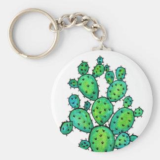 Herrliches Aquarell-stacheliger Kaktus Schlüsselanhänger