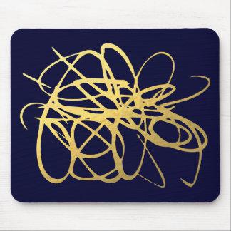Herrliches Marine-Gold Mousepad für Ihr Büro