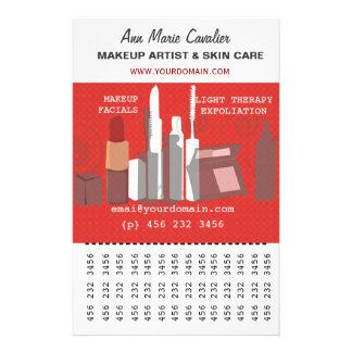Herrliches Mode-Schönheits-Maskenbildner-Geschäft 14 X 21,6 Cm Flyer