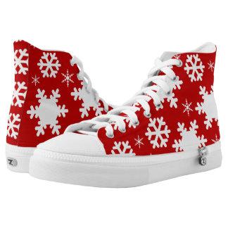 Herrliches Weihnachtshohe Spitzenschuhe! Hoch-geschnittene Sneaker