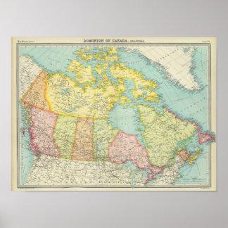 Herrschaft von Kanada politisch Poster