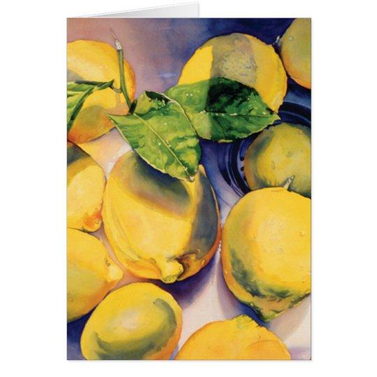 Herstellung der Limonade Grußkarte