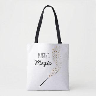 Herstellung der magischen Käufer-Tasche Tasche