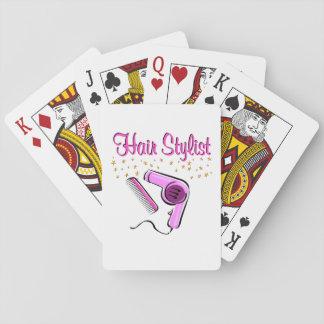 HERVORRAGENDER HAARStylist UND BEAUTICIAN Spielkarten