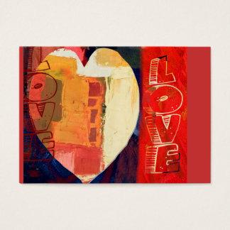 Herz ACEO Herz-Liebeabstraktes Valentines Tages Visitenkarte