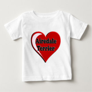 Herz Airedales Terrier für Hundeliebhaber Baby T-shirt