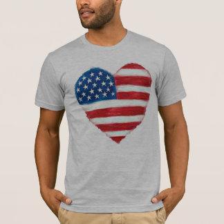 Herz-Amerika-T - Shirt