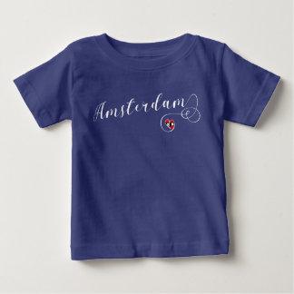 Herz-Amsterdam-T-Shirt, die Niederlande Baby T-shirt
