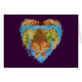 Herz-Angelegenheiten:  Mein Regenbogen-Herz Karte