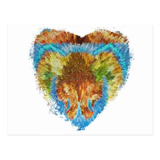 Herz-Angelegenheiten:  Mein Regenbogen-Herz Postkarte