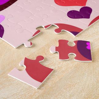 Herz auf Herzpuzzlespiel