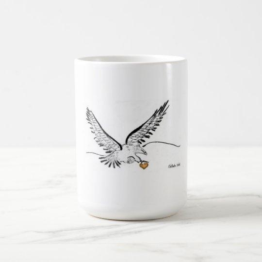 Herz aus Gold Eagle Kaffeetasse