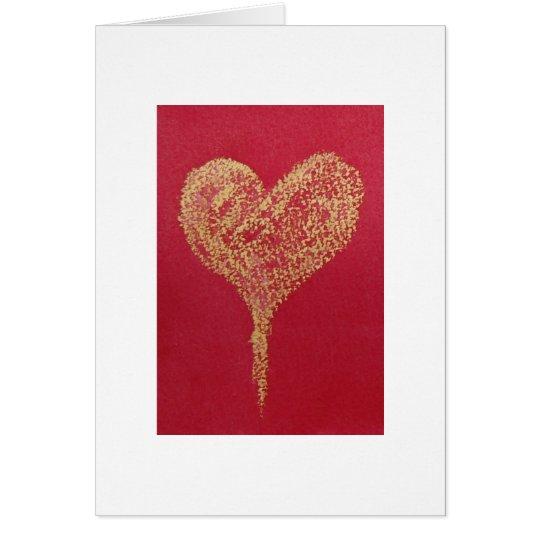 Herz aus Gold Grußkarte