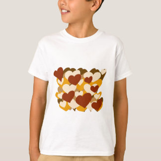 Herz aus Golds-Entwurf T-Shirt
