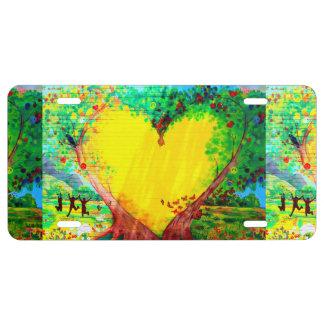 Herz aus GoldsmauerKfz-Kennzeichen US Nummernschild
