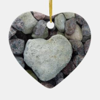 Herz aus Stein Keramik Herz-Ornament