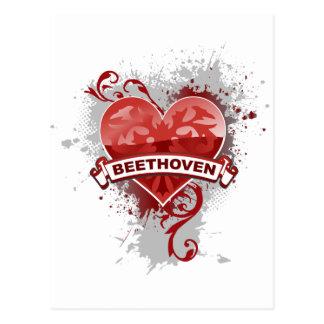Herz Beethoven Postkarte