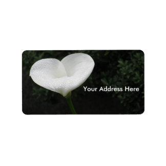 Herz-Blumen-Aufkleber Adressetiketten
