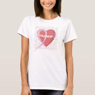 Herz-Brustkrebs-kundengerechter T - Shirt