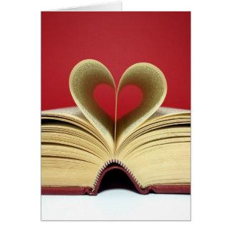 Herz-Buch-Valentinstag-Karte Karte