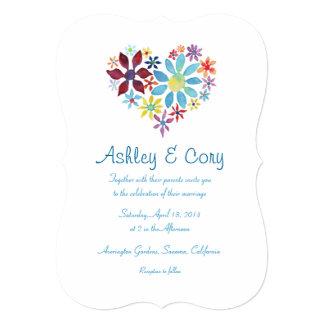 Herz der Blumen, die Einladung Wedding sind 12,7 X 17,8 Cm Einladungskarte