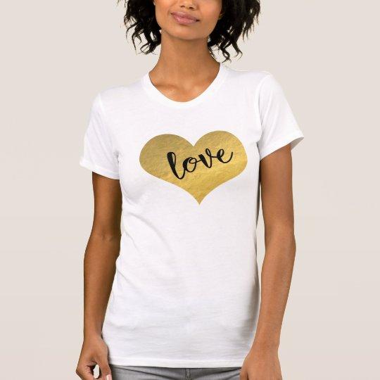 Herz der GoldLiebe T-Shirt