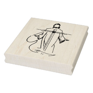 Herz der Jesus-Illustrationskunst-Briefmarke Gummistempel