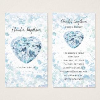 Herz-Diamant-Aquarell-Visitenkarten Visitenkarte