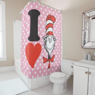 Herz Dr.-Seuss Valentine | I die Katze im Hut Duschvorhang