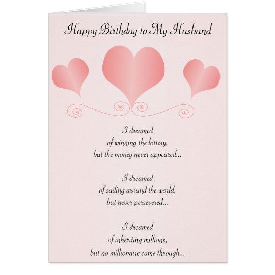 Herz-Ehemann-Geburtstag Grußkarte