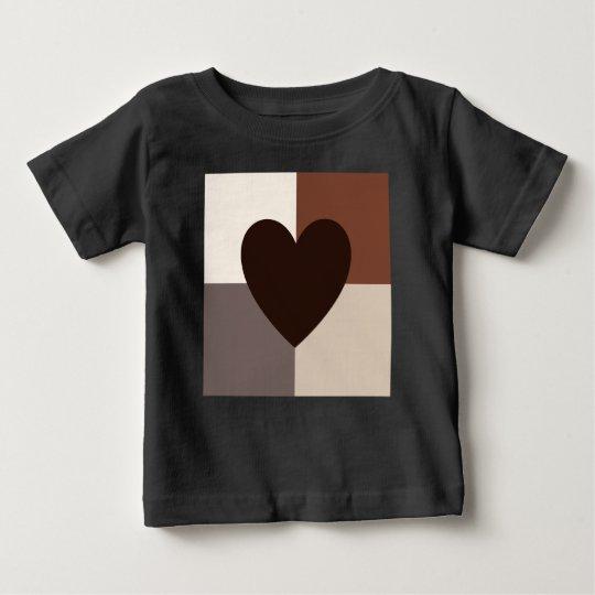 Herz-Entwurfs-warme Farben Baby T-shirt