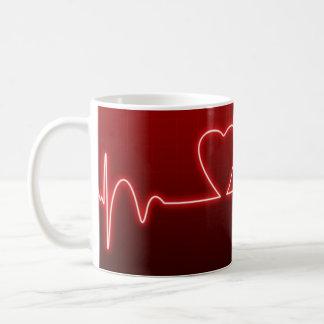 Herz-Förmiger Herz-Schlag-Valentinsgruß Kaffeetasse