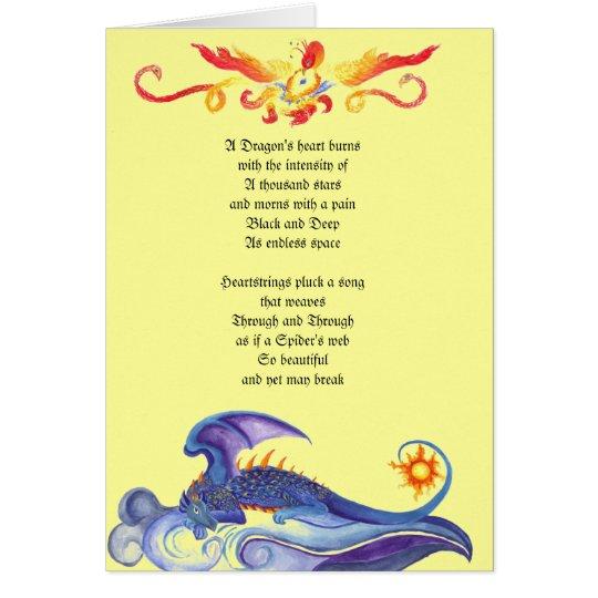 Herz-Gedichtkarte des Drachen Grußkarte
