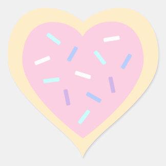 Herz-geformte Zuckerplätzchen-Aufkleber Herz-Aufkleber