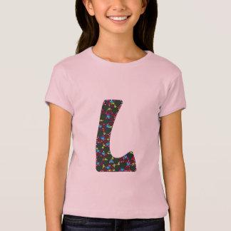 Herz-gefülltes L Monogramm T-Shirt