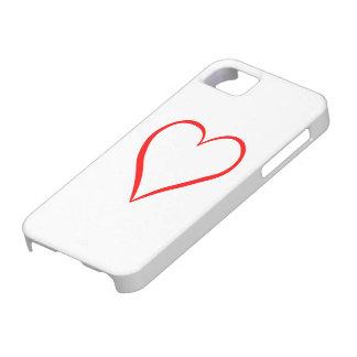 Herz gemalt auf weißem Hintergrund iPhone 5 Hülle